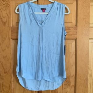 VINCE CAMUTO never-worn sleeveless sky blue top
